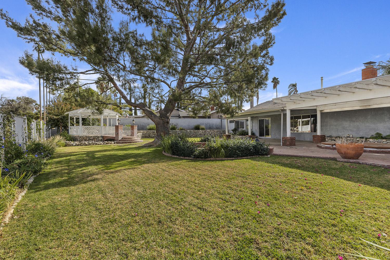 Backyard to 2134 Mountain View Dr Corona CA